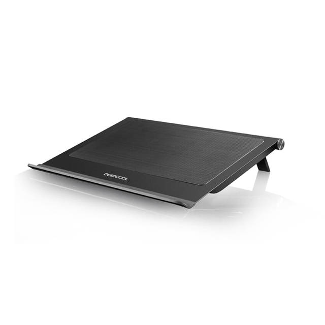 DEEPCOOL N65 Laptop Cooling Pad Dual 140mm Fans of 1000RPM FullMetal Panel Removable Dust Filter AntiSlip Baffle Two Adjustable Supporting Angles USB30 Output Design